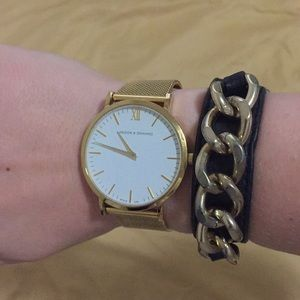 Banana Republic black chain bracelet